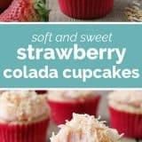 How to Make Strawberry Colada Cupcakes