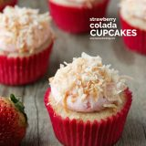 recipe for Strawberry Colada Cupcakes