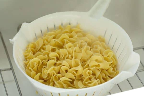 Egg Noodles in a Colander