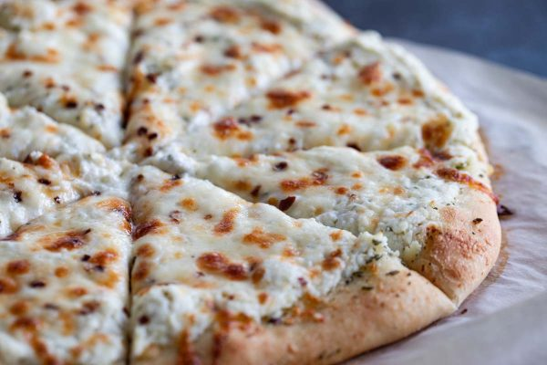 White Pizza with Three Cheeses