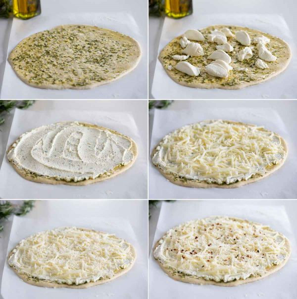 Steps to Make a White Pizza