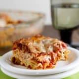 American Lasagna on a plate