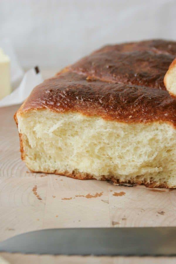 loaf of brioche bread
