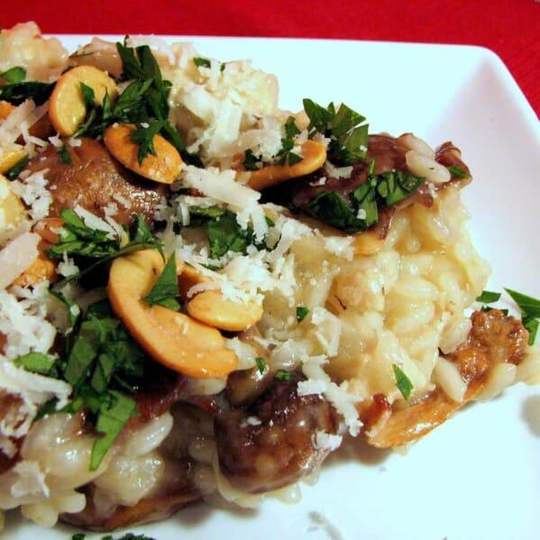 Chicken, Mushroom and Cashew Risotto