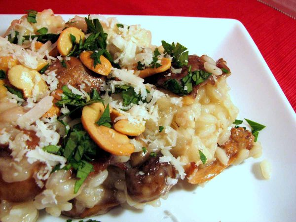Chicken, Mushroom and Cashew Risotto