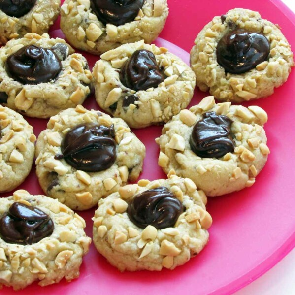 Chocolate Peanut Butter Thumbprint Cookies