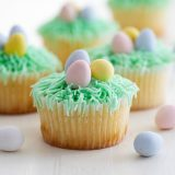 Lemon Cupcakes with Easter Decorations