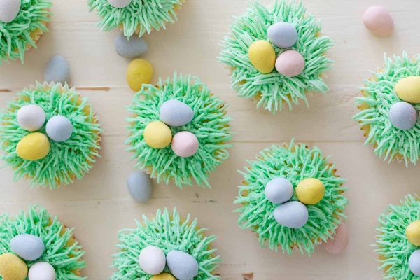 Easter Egg Candy on Cupcakes