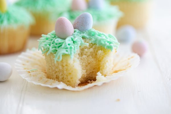 Texture of Easter Cupcakes