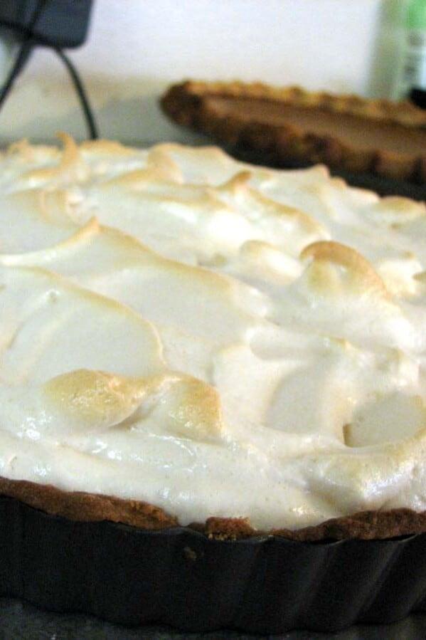French Lemon Cream Tart with Meringue