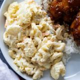 Macaroni Salad served with Shoyu Chicken