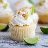 Key lime cupcake with buttercream