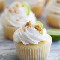 Key Lime Cupcake topped with Buttercream