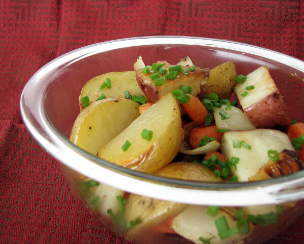Lemon Chive Roasted Vegetables