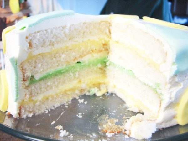 Inside of Lemon Lime Perfect Party Cake