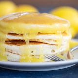 Stack of Pancakes with Lemon Sauce