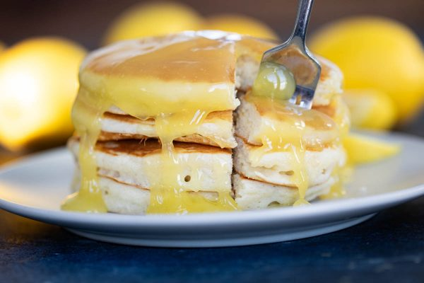 Lemon Sauce on Pancakes