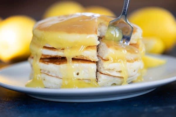 Lemon Sauce on Pancakes