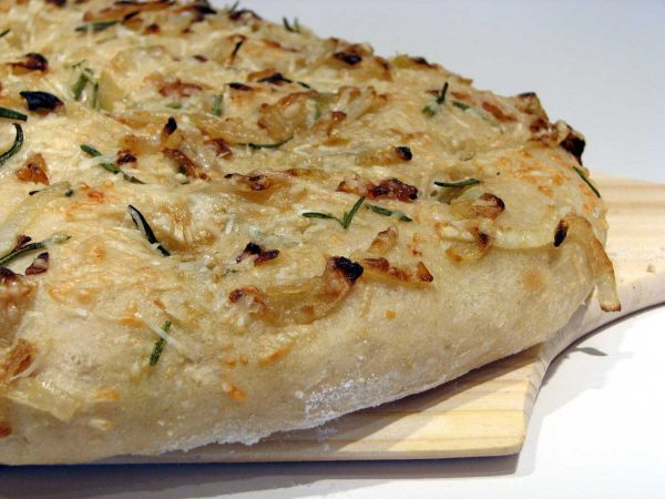 Potato Focaccia Topped with Caramelized Onions