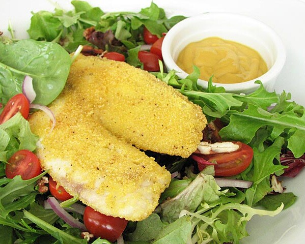 Southern Fried Tilapia Salad