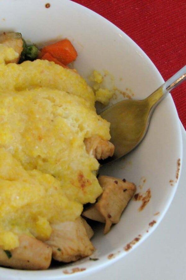 Tarragon Cream Chicken and Polenta Pot Pie