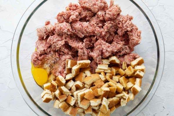 ingredients for Breakfast Sausage Meatballs
