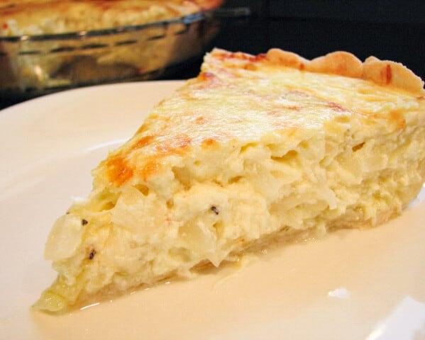 slice of Caramelized Onion Pie