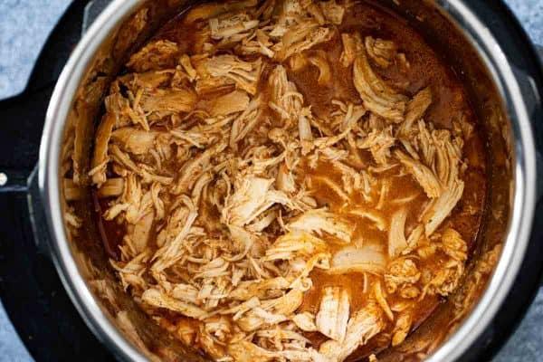 Chicken in the Instant Pot for Chicken Tostadas