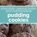 How to Make Chocolate, Peanut Butter and Marshmallow Pudding Cookies