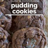 Chocolate, Peanut Butter and Marshmallow Pudding Cookies Recipe