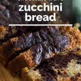 Recipe for Chocolate Wave Zucchini Bread