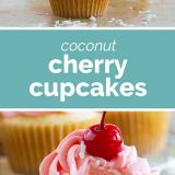 How to Make Coconut Cherry Cupcakes
