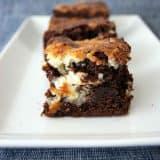 Coconut Swirl Brownies