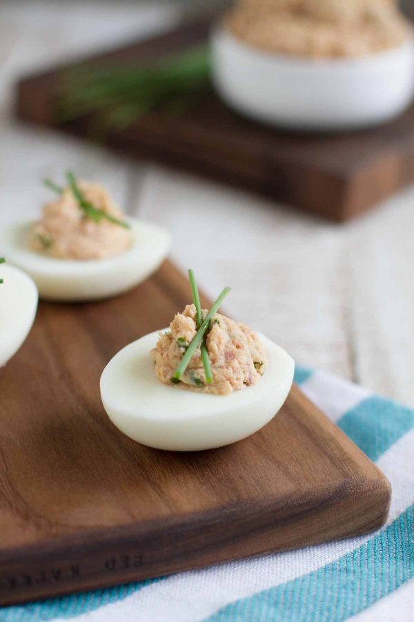 Deviled Eggs made with Deviled Ham