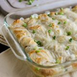 Ham and Cheese Crescent Bake in Casserole Dish