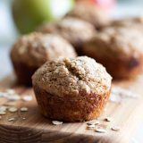 Muffins made with oats and applesauce