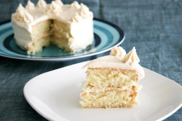 slice of Caramel Cake with Caramelized Butter Frosting