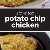 Potato Chip Chicken collage with text