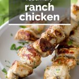 grilled chicken kabobs with text overlay