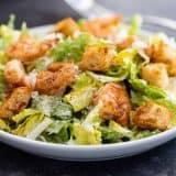 Shrimp Caesar Salad on a plate