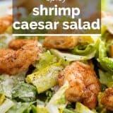 Caesar salad photo with text overlay