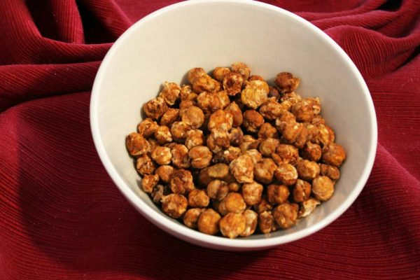 bowl of spiced chickpeas