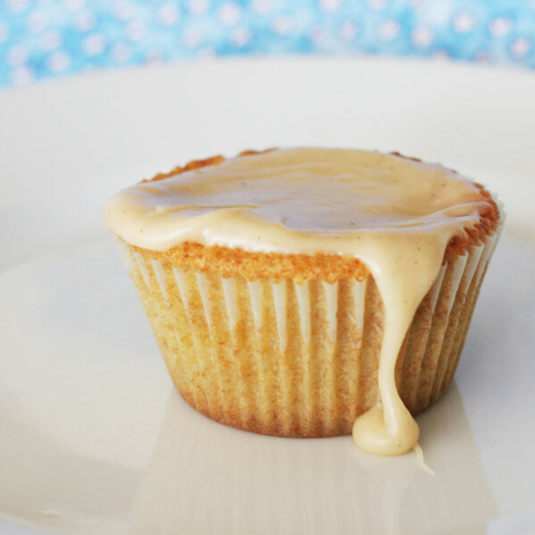 brown sugar pound cake cupcake with brown butter icing