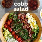 Steak Cobb Salad with Text Overlay