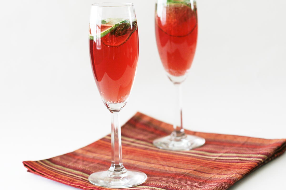 pomegranate and cranberry mocktail