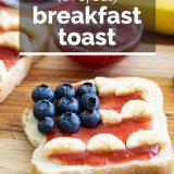 4th of July Breakfast Toast with Text Overlay