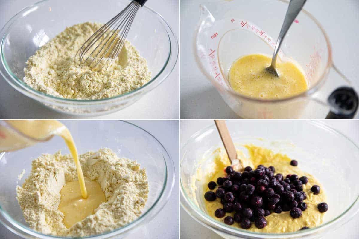 steps to make lemon blueberry muffins