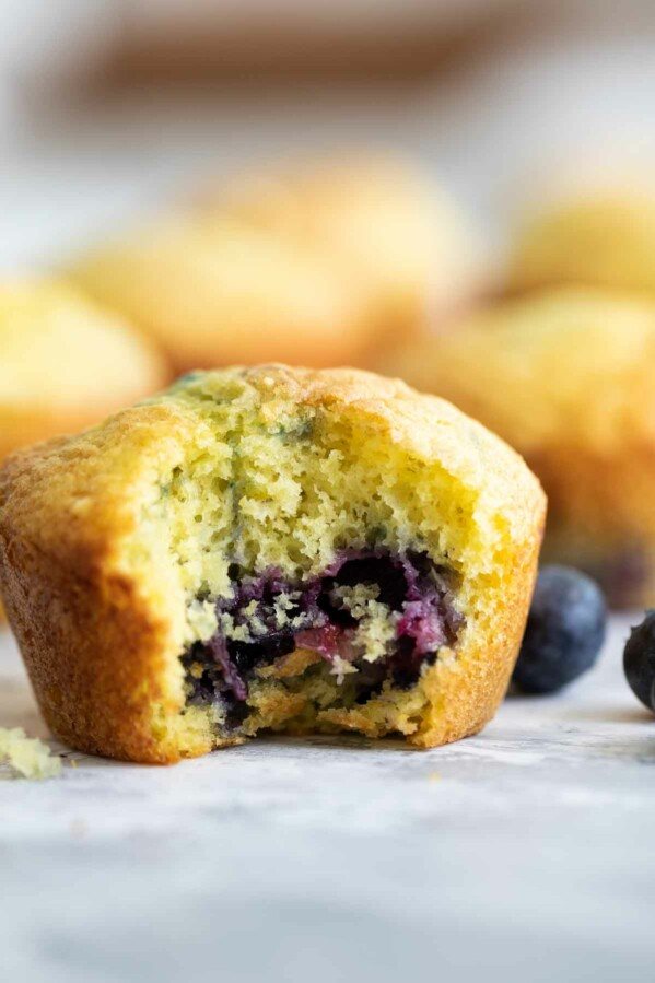 lemon muffin with blueberries