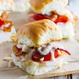 easy Kentucky Hot Brown Sandwich made with slider rolls