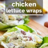 Tropical Chicken Lettuce Wraps with text overlay